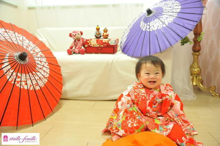 桃の節句&1歳バースデー記念撮影