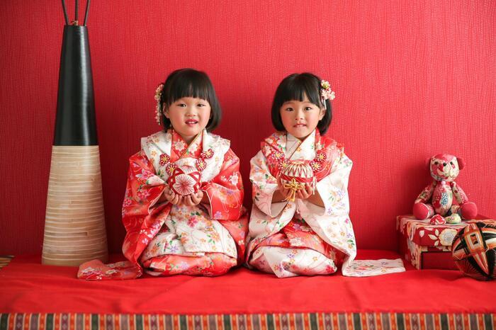 七五三3歳 双子ちゃんのご来店 ☆上尾店☆彡
